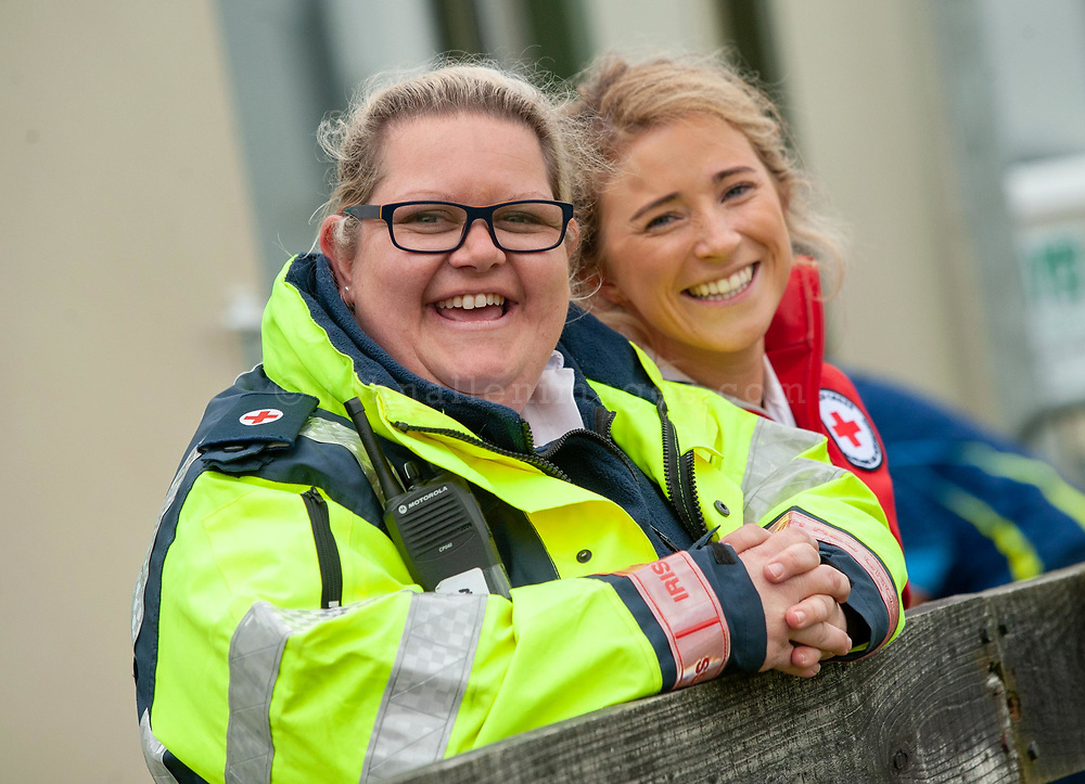 """REPRO FREE<br /> Philomena Calnan, Clonakilty Red Cross and Alice O'Sullivan, Kinsale Red Cross helping out at the 2018 Heineken Kinsale 7s this weekend.<br /> Picture. John Allen<br /> <br /> *** PRESS RELEASE *** <br /> Sunday 6th May 2018<br /> <br />  PROJECX WATERBOYS WIN 2018 HEINEKEN KINSALE 7s<br /> Projecx Waterboys from Scotland were crowned 2018 Heineken Kinsale 7s Champions for the second year in a row, defeating Speranza22 by 36-12. Railway Union won the Hayes Caravan Services Women's Trophy beating WRR Ravens 22-7 and King Prawns won the Men's Open competition, beating Session Motts 36-0. <br /> Celebrating its 30th anniversary this year, the Heineken Kinsale 7s is Ireland's largest rugby 7s tournament and builds on its success each year. Over 60 teams and supporters enjoyed great running rugby and the huge festival atmosphere in Kinsale RFC and in the town over the May Bank Holiday weekend.<br /> Competition<br /> Winner<br /> Runner-Up<br /> Men's Elite Champions<br /> Projecx Waterboys<br /> Speranza 22<br /> Men's Elite Plate<br /> Camarthen Warriors<br /> CLIC Sargent Godfathers<br /> Men's Open Champions<br /> King Prawns<br /> Session Motts<br /> Men's Social Competion<br /> Dirty Basturds<br /> Carley's Angels<br /> Men's Open Plate<br /> DISCO Balls<br /> Kinsale RFC<br /> Men's Social Plate Competition<br /> Brick Lane's Green Bananas<br /> Fat Spartans<br /> Hayes Caravan Services Women's Open Cup<br /> Railway Union RFC<br /> WRR Ravens<br /> Women's Social Comp<br /> Capsized!<br /> Pink Ladies <br /> Women's Open Plate Competition<br /> Olorun Ponty Butchers<br /> Irish Rugby Institute<br /> <br /> <br /> Pat Maher, Event and Sponsorship Manager, Heineken Ireland said: """"We are delighted to continue our support and sponsorship of the Heineken Kinsale 7s and look forward to celebrating the 30th Anniversary in Kinsale with top-quality competitive rugby. We thank everyone involved in Kinsale RFC for their foresight, courage and wisdom to stag"""