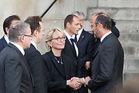 Claude Chirac_Edouard  Philippe Obsèques de Jacques Chirac Lundi 30 Septembre 2019 église Saint Sulpice Paris