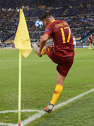 October 2, 2018 - Rome, Italy - Cengiz Under during the UEFA Champions League match group G between AS Roma and Viktoria Plzen at the Olympic stadium on october 02, 2018 in Rome, Italy. (Credit Image: © Silvia Lore/NurPhoto/ZUMA Press)