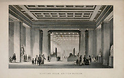 Egyptian Room, British Museum, London From the book Illustrated London, or a series of views in the British metropolis and its vicinity, engraved by Albert Henry Payne, from original drawings. The historical, topographical and miscellanious notices by Bicknell, W. I; Payne, A. H. (Albert Henry), 1812-1902 Published in London in 1846 by E.T. Brain & Co