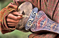 Or Drangyen, Himalayan folk music lute with six strings, Bhutan