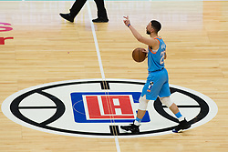 March 10, 2018 - Los Angeles, CA, U.S. - LOS ANGELES, CA - MARCH 10: LA Clippers guard Austin Rivers (25) signals and setups up a play during the game between the Orlando Magic and the LA Clippers on March 10, 2018, at STAPLES Center in Los Angeles, CA. (Photo by David Dennis/Icon Sportswire) (Credit Image: © David Dennis/Icon SMI via ZUMA Press)