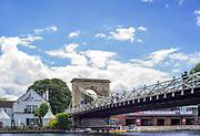Marlow, Bucks . United Kingdom. <br /> <br /> General View, GV<br /> <br /> Thursday  15/06/2017<br /> <br /> <br /> [Mandatory Credit Peter SPURRIER/Intersport Images] Marlow Bridge,
