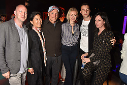 """Matthew Freud, Laura Louie, Woody Harrelson, Camilla al-Fayed, Arthur Donald, Mary McCartney at """"Hoping For Palestine"""" Benefit Concert For Palestinian Refugee Children held at The Roundhouse, Chalk Farm Road, England. 04 June 2018."""