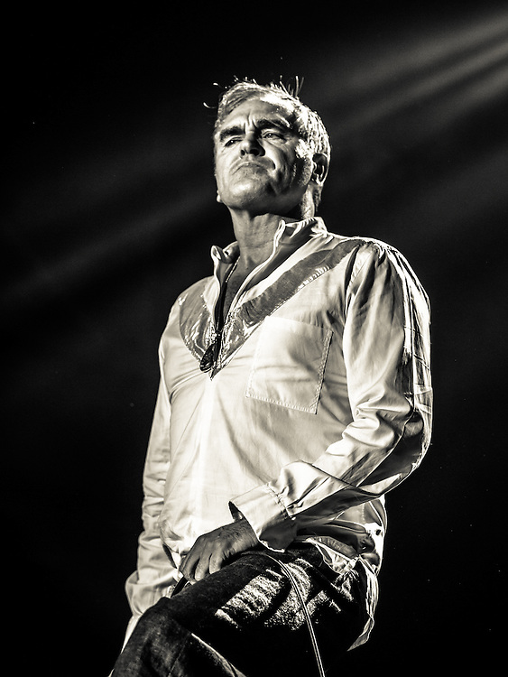 """MORRISSEY live at Palladium Cologne during """"The World Peace Is None of Your Business"""" Tour 2015. The lyricist and vocalist of the former rock band The Smiths is an important innovator in the indie music scene and known for his contrarian opinions and as a fiercful animal protectionist.<br /> <br /> <br /> © IRIS EDINGER   Photography"""
