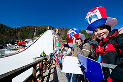 View on the hill during Flying Hill Individual Final Round at 4th day of FIS Ski Jumping World Cup Finals Planica 2011, on March 20, 2011, Planica, Slovenia. (Photo By Matic Klansek Velej / Sportida.com)