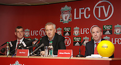 Liverpool, England - Thursday, September 27, 2007: LFC.tv managing director Stephen Michael, Liverpool FC Chief-Executive Rick Parry and Co-Founder of Setanta Sports Mickey O'Rorke at the launch of the Official Liverpool FC television channel on Setanta Sports. (Photo by David Rawcliffe/Propaganda)..For more details regarding LFC TV please contact Jo Crump or Steven Hartley at LiverpoolFC.TV jo,crump@liverpoolfc.tv / steven.hartley@liverpoolfc.tv