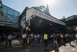 June 14, 2017 - London, London, UK - London, UK. Shop owners and stall holders are open for business as Borough Market re-open on the first day of trading after the terrorist attacks 3rd June which left eight people dead and three terrorists shot dead by police. (Credit Image: © Ray Tang/London News Pictures via ZUMA Wire)