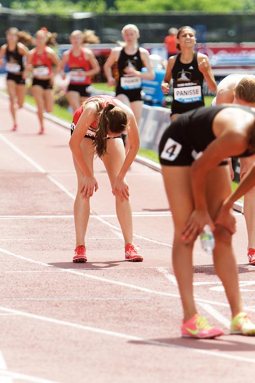 Samsung Diamond League adidas Grand Prix track & field; Dream Mile, High School Girls, finish