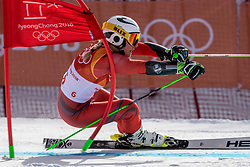PYEONGCHANG-GUN, SOUTH KOREA - FEBRUARY 15: Ragnhild Mowincjel of Norway competes during the Alpine Skiing Women's Giant Slalom at Yongpyong Alpine Centre on February 15, 2018 in Pyeongchang-gun, South Korea. Photo by Ronald Hoogendoorn / Sportida
