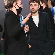 Jake Davies arrives at The Phantom of the Open at BFI London Film Festival 2021, 12 October 2021 Southbank Centre, Royal Festival Hall, London, UK.