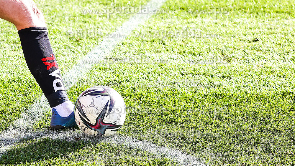 14.02.2021, Keine Sorgen Arena, Ried, AUT, 1. FBL, SV Guntamatic Ried vs SKN St. Poelten, Grunddurchgang, 17. Runde, im Bild Eckball Feature // during the tipico Bundesliga 17th round match between SV Guntamatic Ried and SKN St. Poelten at the Keine Sorgen Arena in Ried, Austria on 2021/02/14. EXPA Pictures © 2021, PhotoCredit: EXPA/ Roland Hackl