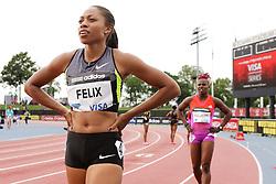 Samsung Diamond League adidas Grand Prix track & field; women's 100 meters, post race, Allyson Felix, USA