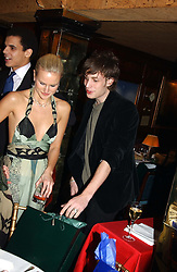 OLYMPIA SCARRY and JAMES JAGGER at a private dinner and presentation of Issa's Autumn-Winter 2005-2006 collection held at Annabel's, 44 Berkeley Square, London on 15th March 2005.<br /><br />NON EXCLUSIVE - WORLD RIGHTS