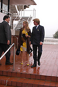 Clementine Hambro and Lord ( ?) Antony Gordon-Lennox. Glorious Goodwood. 27 July 2005. ONE TIME USE ONLY - DO NOT ARCHIVE  © Copyright Photograph by Dafydd Jones 66 Stockwell Park Rd. London SW9 0DA Tel 020 7733 0108 www.dafjones.com