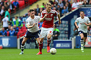 Swindon Town's Michael Smith during the Sky Bet League 1 Play Off Final match between Preston North End and Swindon Town at Wembley Stadium, London, England on 24 May 2015. Photo by Shane Healey.