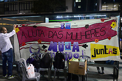 September 7, 2017 - SâO Paulo, São Paulo, Brazil - SAO PAULO SP, SP 07/09/2017 ACT DEBATE SP: Women organize a debate on Avenida Paulista against harassment this afternoon (7) in São Paulo. In the last few weeks a series of reports of rapes and sexual harassment have surfaced in the city of São Paulo. In social networks, women have protested against such cases. (Credit Image: © Cris Faga via ZUMA Wire)