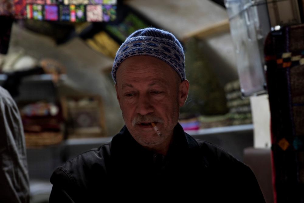 Market trader in Hebron