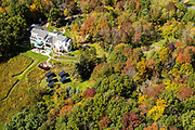 Image from a flight over the Inn at Wawanisee Point, Sauk County, Wisconsin and the Baraboo Hills  on a beautiful autumn day.