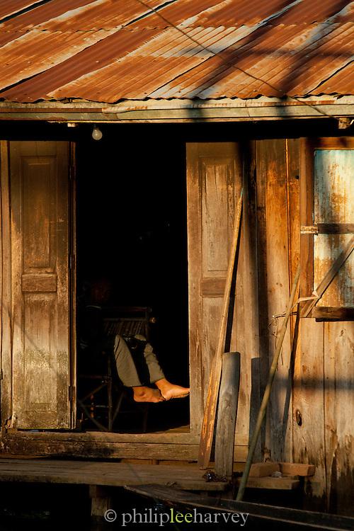 Pauck Par village at sunset, Inle Lake, Myanmar