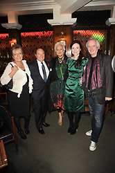 Left to right,  CELESTIA FOX, ARNOLD CROOK, JEANNE MANDRY, KATIE MEGAN and SEAN MATHIAS at 'Heavenly Ivy' a play to commemorate 20 years of The Ivy Restaurant, held at The Ivy, West Street, London on 8th November 2010.