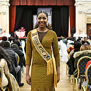 Miss RDC International 2020 - Alexandra Lea Tula attend the Mr & Miss Congo 2020,on 29th February 2020 at Old Townhall,Stratford, London, UK.