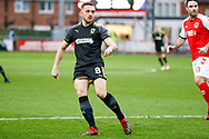 Wimbledon midfielder Anthony Hartigan (8) in action  during the The FA Cup 3rd round match between Fleetwood Town and AFC Wimbledon at the Highbury Stadium, Fleetwood, England on 5 January 2019.