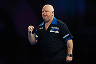Scotland's Robert Thornton celebrates winning the first leg of the first set during Day 6 of the Darts World Championship 2018 at Alexandra Palace, London, United Kingdom on 18 December 2018.