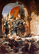 Benjamin Constant 1845–1902, French artist. 'The Entry of Mehmet II into Constantinople' 1876