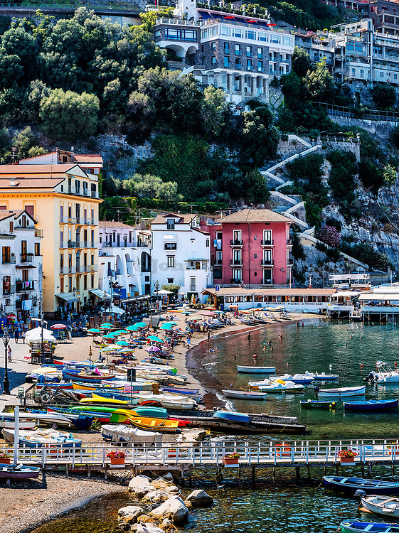 The Marina Grande of Sorrento near Naples Italy the ancient fishing harbour of the town