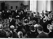 Inaugeration of President Hillery..1983.03.12.1983.12.03.1983.3rd December 1983...Dignitaries from home and abroad attended the Inaugeration of Patrick Hillery, as president of Ireland. the ceremony took place at St Patrick's Hall,Dublin Castle...Image of the invited guests as the head off to the celebrations that follow the inaugeration.
