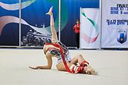 Greta Merlo from Virtus Gallarate team during the Italian Rhythmic Gymnastics Championship in Padova, 25 November 2017.