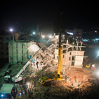Rana Plaza 8 Storey Building collapsed in  around 8.45 morning on 24 April 2013 in Savar outskirt of Dhaka,Bangladesh. <br /> <br /> The building had 5 Garments, 1 bank and many shops. <br /> <br /> At least 400 killed and thousand inured  <br /> <br /> 29 April 2013
