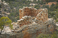 Anasazi ruins perched above Bullet Canyon, Grand Gulch Primitive Area, Cedar Mesa Utah Bears Ears National Monument