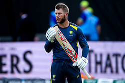 David Warner of Australia - Mandatory by-line: Robbie Stephenson/JMP - 06/07/2019 - CRICKET - Old Trafford - Manchester, England - Australia v South Africa - ICC Cricket World Cup 2019 - Group Stage