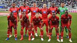 Cape Town-180804 Supersport United starting line-up against Cape Town City  in the first game of the 2018/2019 season at Cape Town Stadium.photograph:Phando Jikelo/African News Agency/ANAr