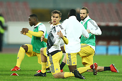 December 1, 2017 - Naples, Italy - Paulo Dybala of Juventus during warm up before the start of the  Serie A match between SSC Napoli and Juventus at Stadio San Paolo on December 1, 2017 in Naples, Italy. (Credit Image: © Matteo Ciambelli/NurPhoto via ZUMA Press)