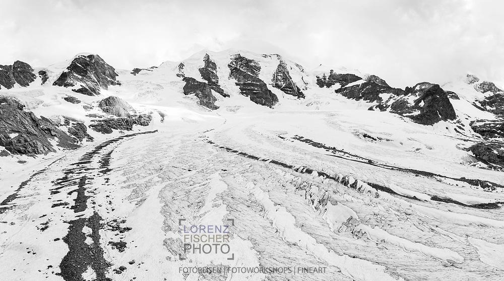 Der Piz Palü und der Persgletscher; Pontresina, Graubünden, Schweiz / <br /> <br />  The Piz Palü and the Pers glacier; Pontresina, Graubünden, Switzerland