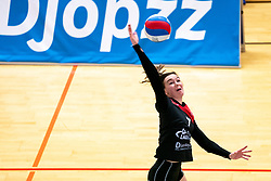 Tessa de Boer of VCN in action during the first league match between Djopzz Regio Zwolle Volleybal - Laudame Financials VCN on February 27, 2021 in Zwolle.