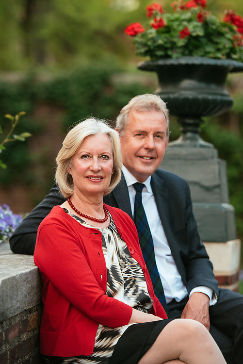 Nigel Kim Darroch, Baron Darroch of Kew, British Ambassador to the United States, with his wife, Lady Vanessa Darroch.