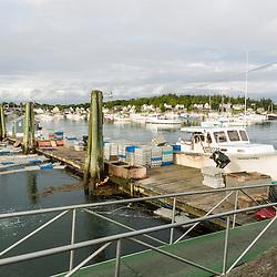 The dock at the Vinalhaven Fishermen's Co-op in Vinalhaven, Maine.