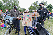 June 6, 2020, London, England, United Kingdom: Hackney kids alongside with their parents and teachers, took a kneel, chanted ''Black Lives Matter'' and walked against racism in London, Saturday, Jun 6, 2020 - in response to protest against the recent killing of George Floyd by police officers in Minneapolis, USA, that has led to protests in many countries and across the US. A US police officer has been charged with the death of George Floyd. (Credit Image: © Vedat Xhymshiti/ZUMA Wire)