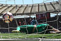 Gol di Dusan Basta Lazio. Goal celebration<br /> Roma 30-04-2017  Stadio Olimpico<br /> Campionato Serie A, <br /> AS Roma - Lazio<br /> Foto Antonietta Baldassarre / Insidefoto