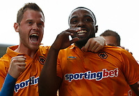 Football - The Championship- Wolverhampton Wanderers v Leicester City -  Wolves' Sylvan Ebanks- Blake and Richard Stearman celebrate scoring the first goal at Molineux
