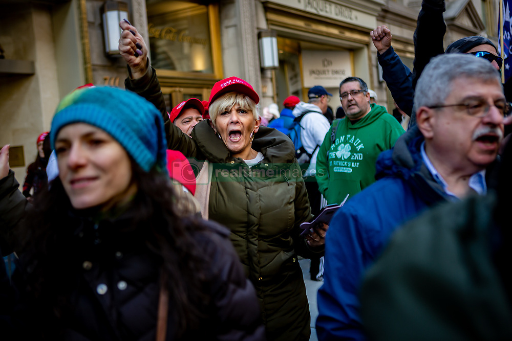 March 23, 2019 - New York City, New York, United States - Approximately 300 Trump supporters gathered outside Trump Tower in New York City to celebrate the end of the Mueller Probe. (Credit Image: © Michael Nigro/Pacific Press via ZUMA Wire)