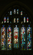 Stained glass window of Christ in Majesty, Seend church, Wiltshire, England, UK 1884 Clayton and Bell