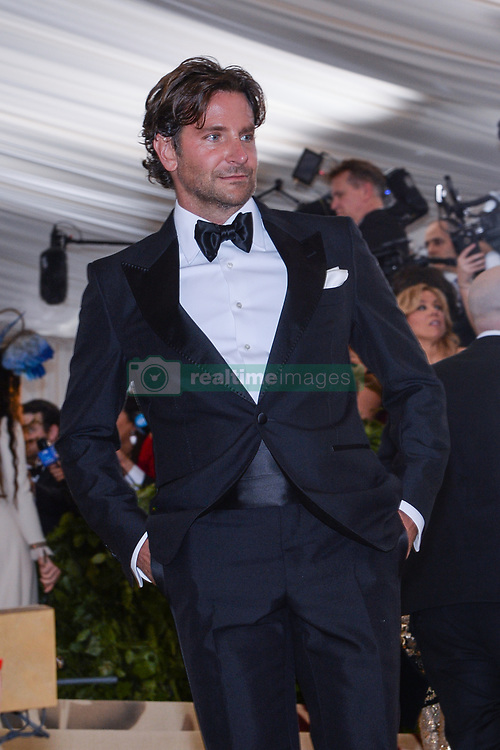 Brdley Cooper walking the red carpet at The Metropolitan Museum of Art Costume Institute Benefit celebrating the opening of Heavenly Bodies : Fashion and the Catholic Imagination held at The Metropolitan Museum of Art  in New York, NY, on May 7, 2018. (Photo by Anthony Behar/Sipa USA)