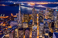 Transamerica Pyramid & Bay Bridge, Downtown SF