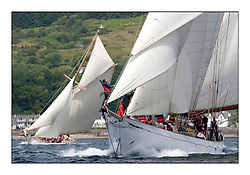 Altair 1931 Schooner..Mixed and bright conditions for the fleet as they race from Kames to Largs...* The Fife Yachts are one of the world's most prestigious group of Classic .yachts and this will be the third private regatta following the success of the 98, .and 03 events.  .A pilgrimage to their birthplace of these historic yachts, the 'Stradivarius' of .sail, from Scotland's pre-eminent yacht designer and builder, William Fife III, .on the Clyde 20th -27th June.   . ..More information is available on the website: www.fiferegatta.com . .Press office contact: 01475 689100         Lynda Melvin or Paul Jeffes