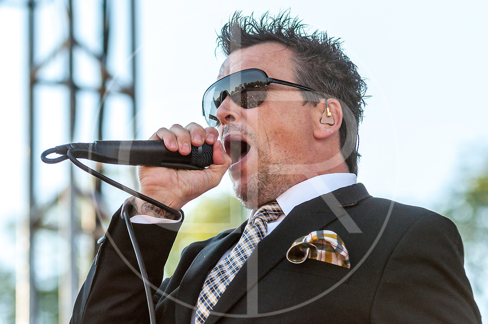 BALTIMORE United States - September 14, 2013: Dicky Barrett of The Mighty Mighty Bosstones, performs at The Shindig, in Baltimore's historic Carroll Park